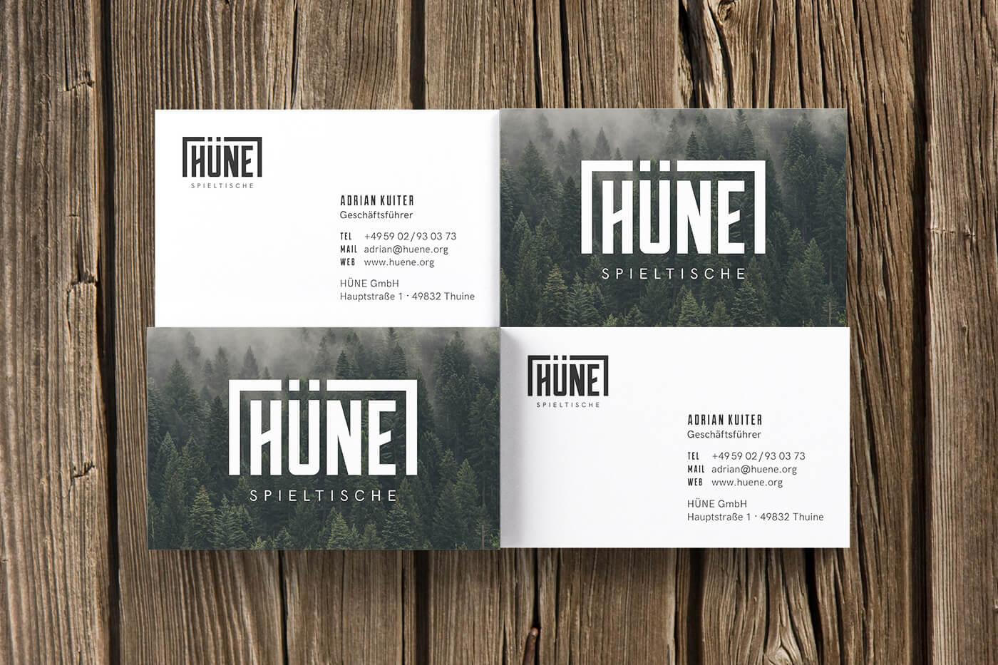 HÜNE Branding Visitenkarten