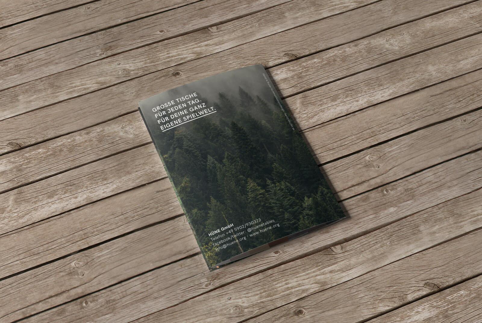 HÜNE Branding Flyer Kickstarter Kampagne