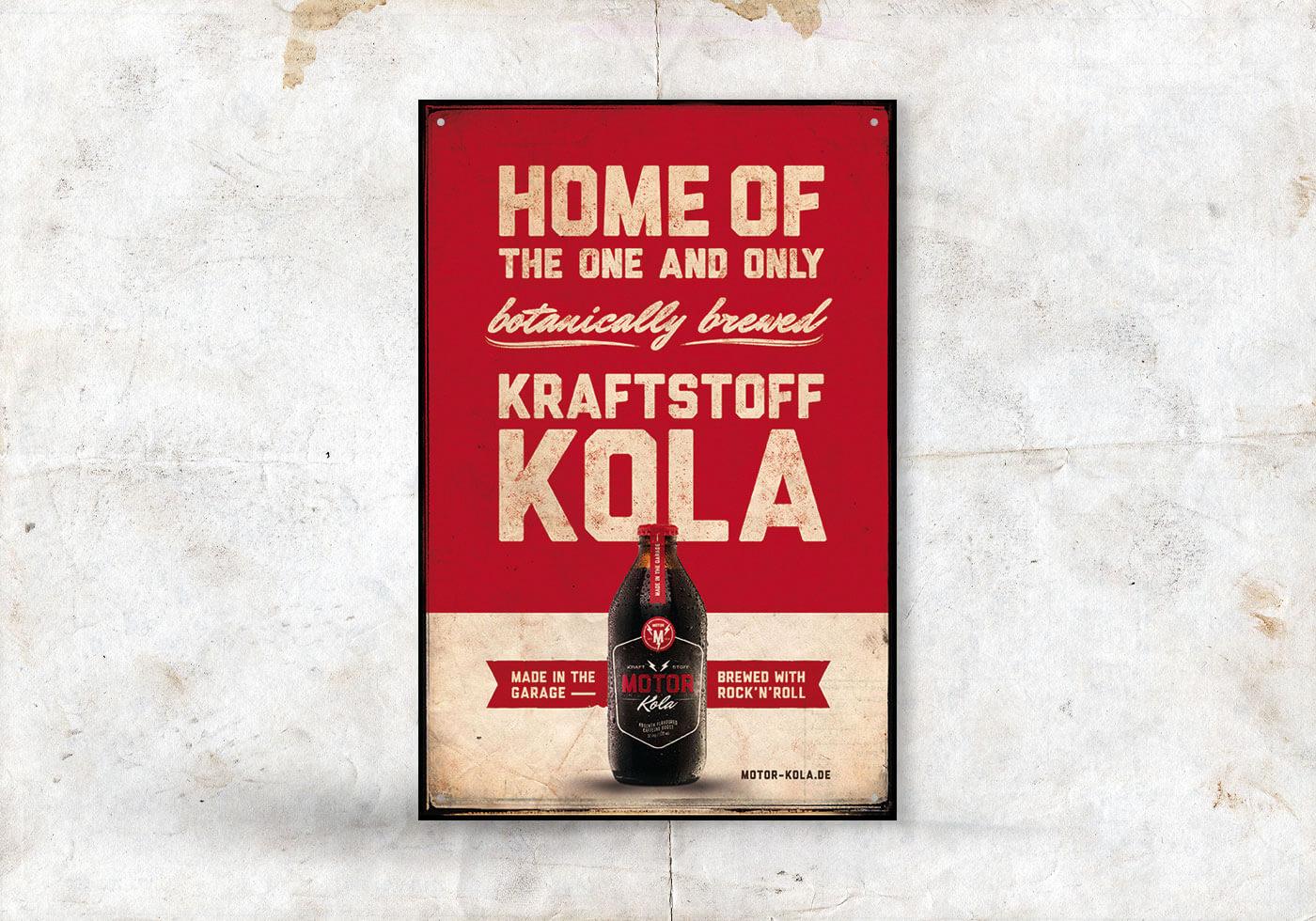 Motor Kola Launchkampagne Blechschild