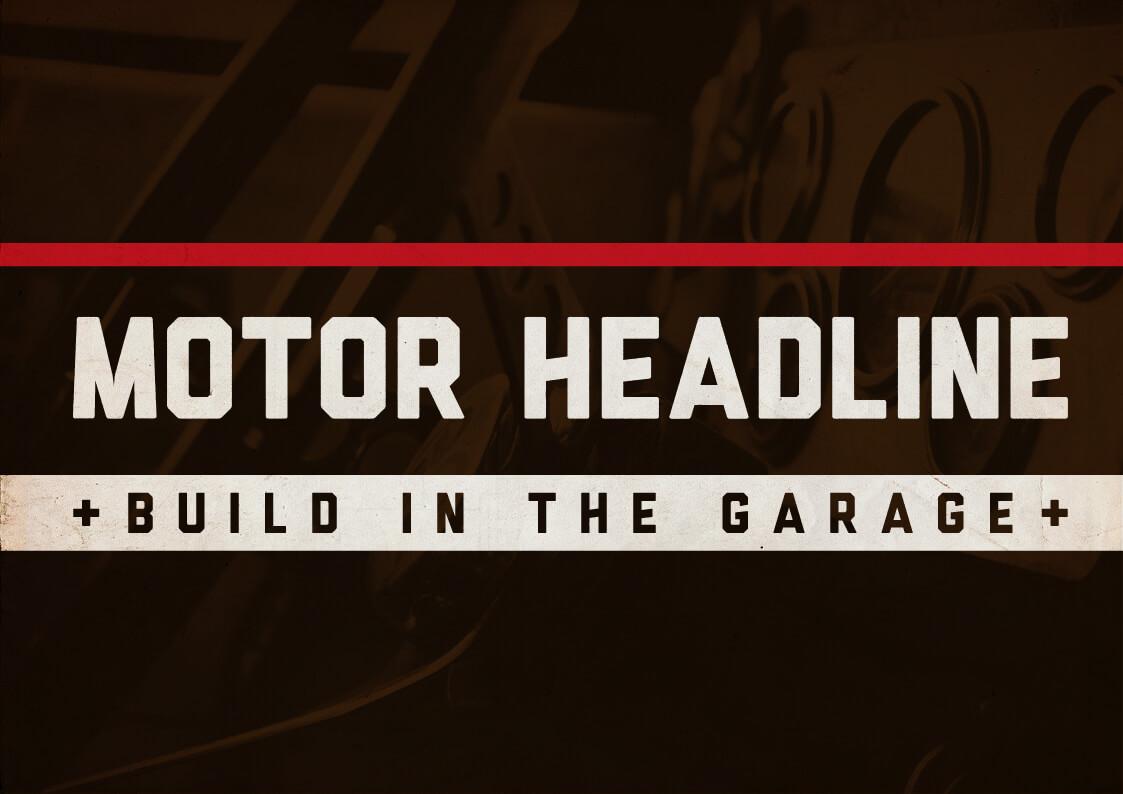 Motor Kola Headline Font