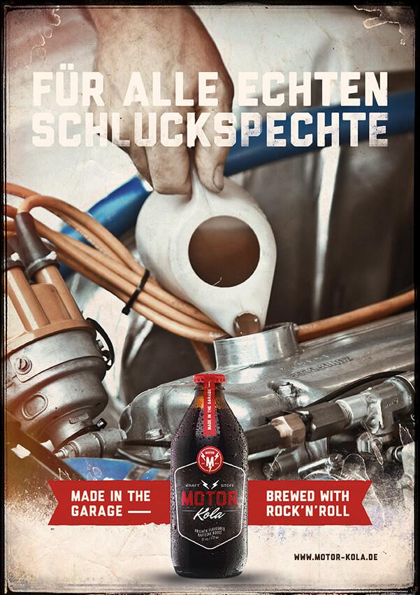 Motor Kola Launchkampagne Schluckspechte