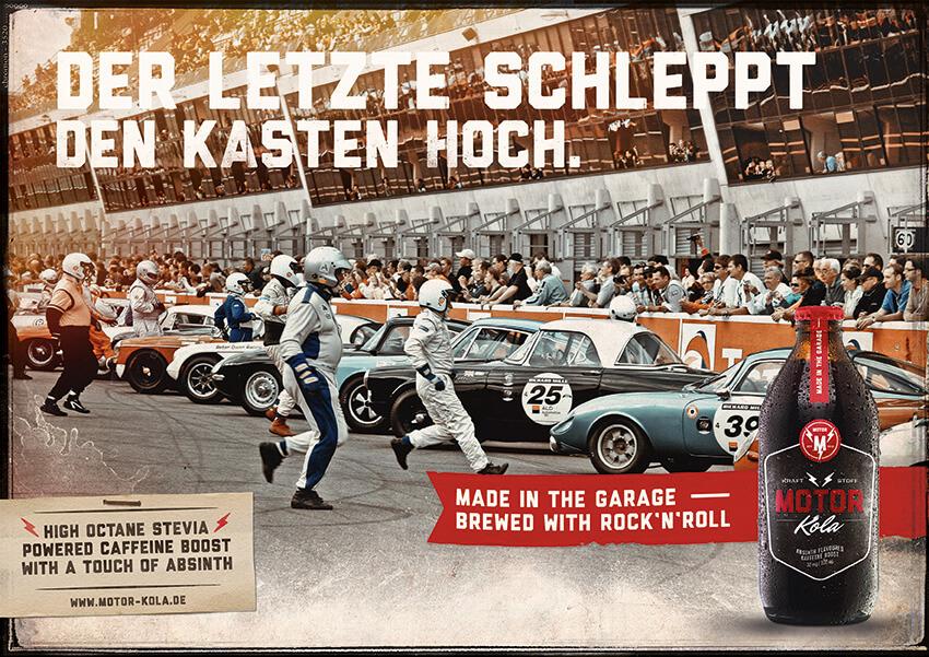 Motor Kola Launchkampagne Motiv Racing