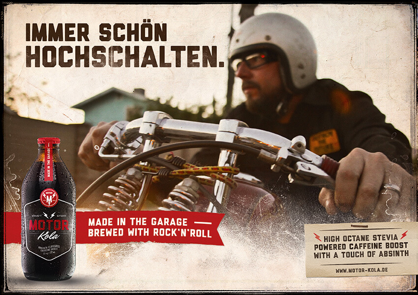Motor Kola Launchkampagne Motiv Hochschalten