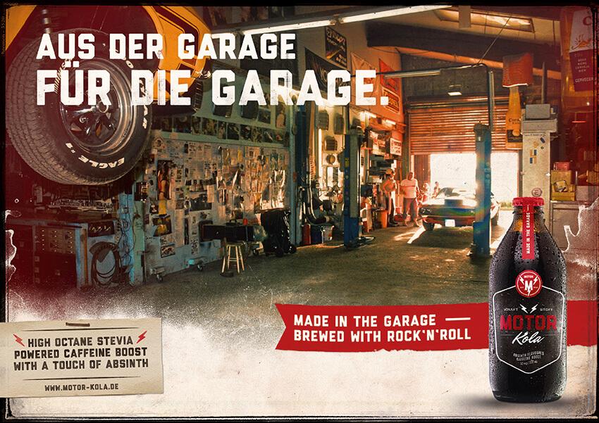 Motor Kola Launchkampagne Motiv Garage
