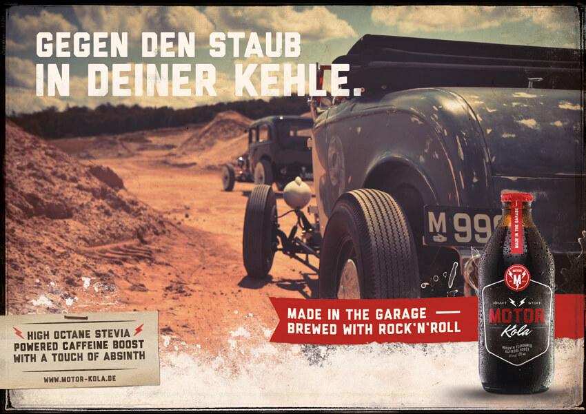 Motor Kola Launchkampagne Motiv Staub