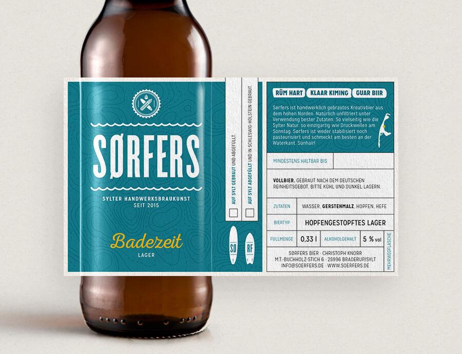 Sørfers Packaging Etikett Lager Badezeit