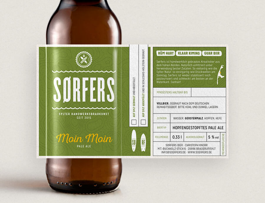 Sørfers Packaging Etikett Pale Ale Moin Moin