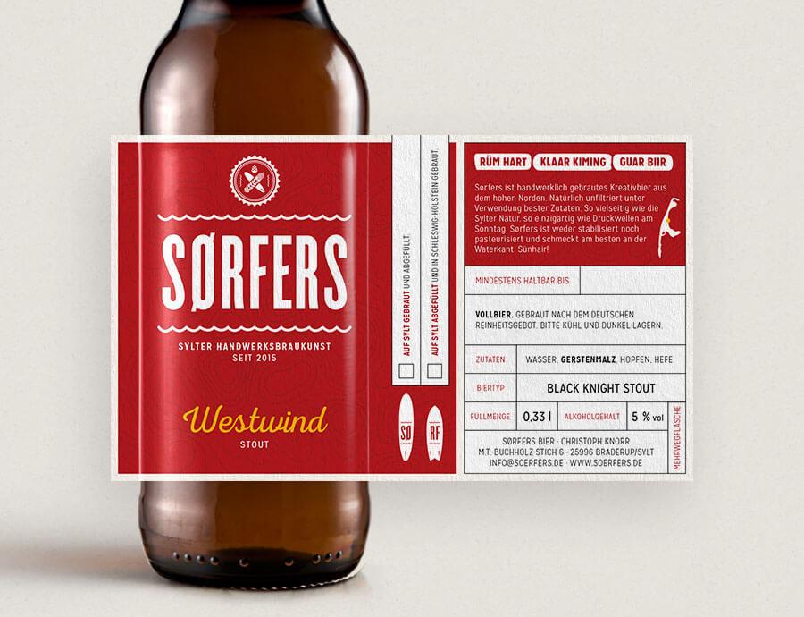 Sørfers Packaging Etikett Stout Westwind