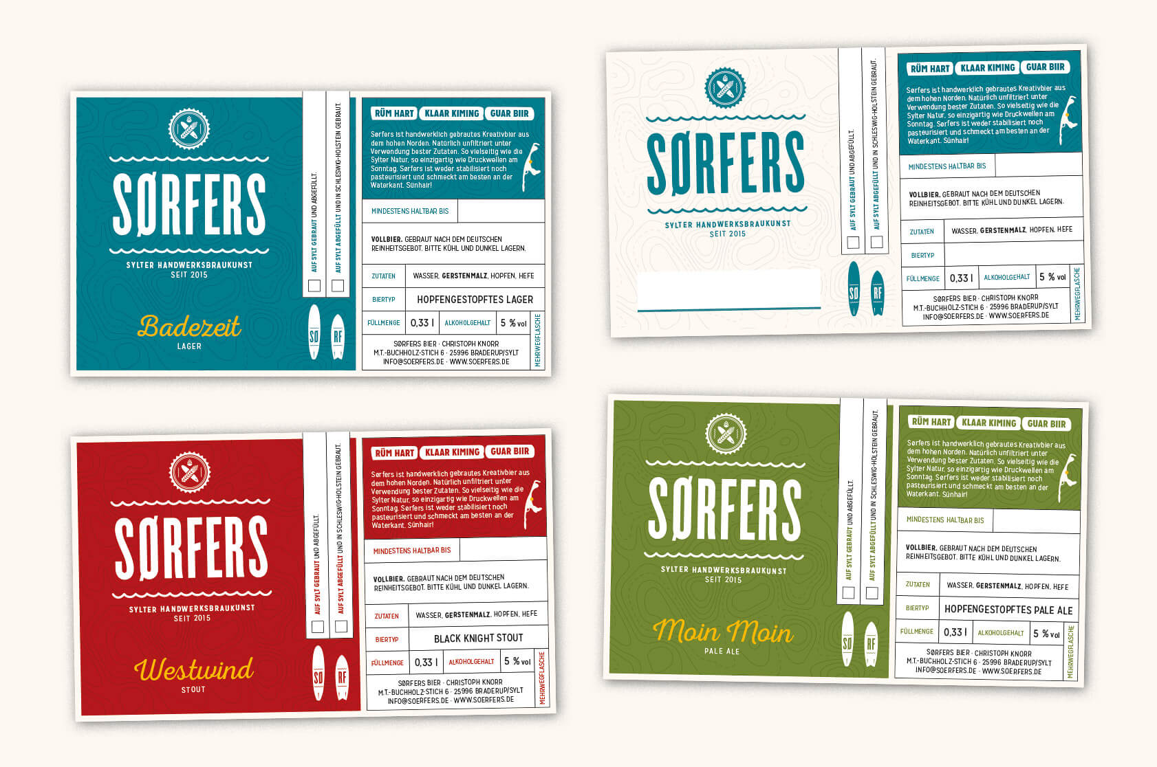 Sørfers Branding Packaging Etiketten