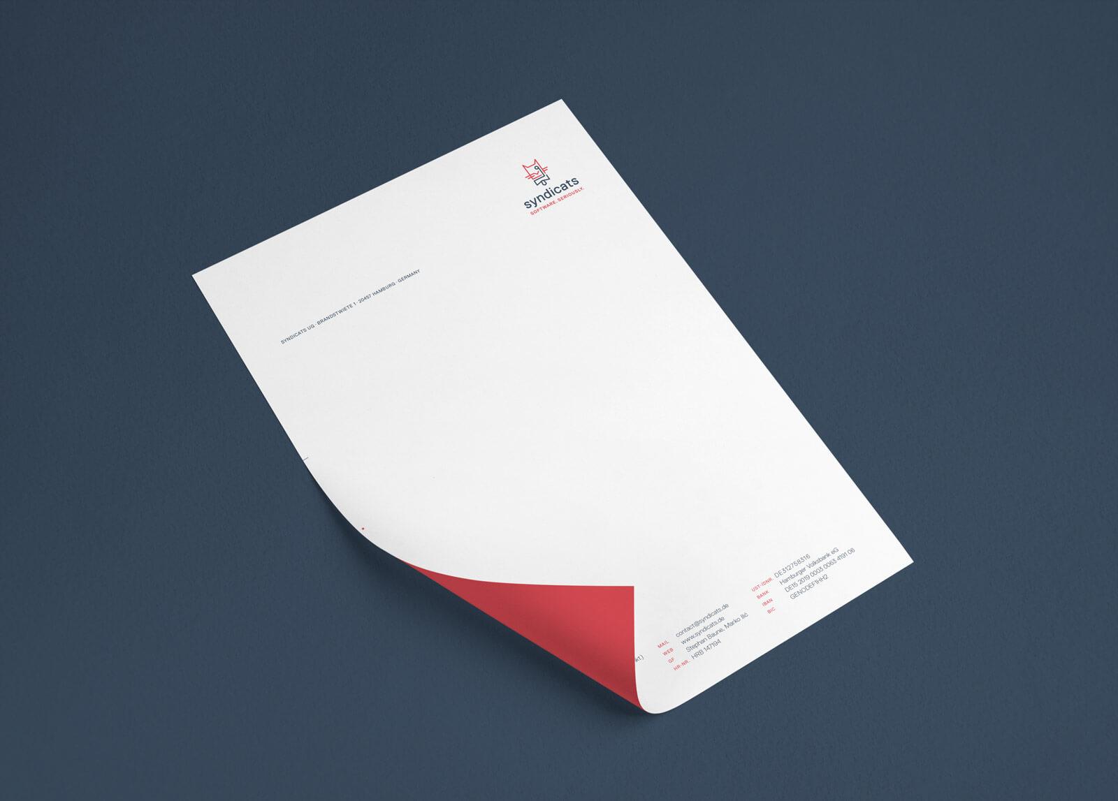 Syndicats Branding Letterhead Briefbogen
