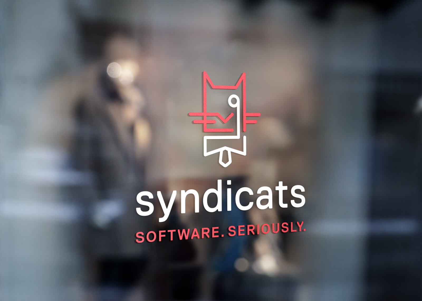 Syndicats Branding Logo Window
