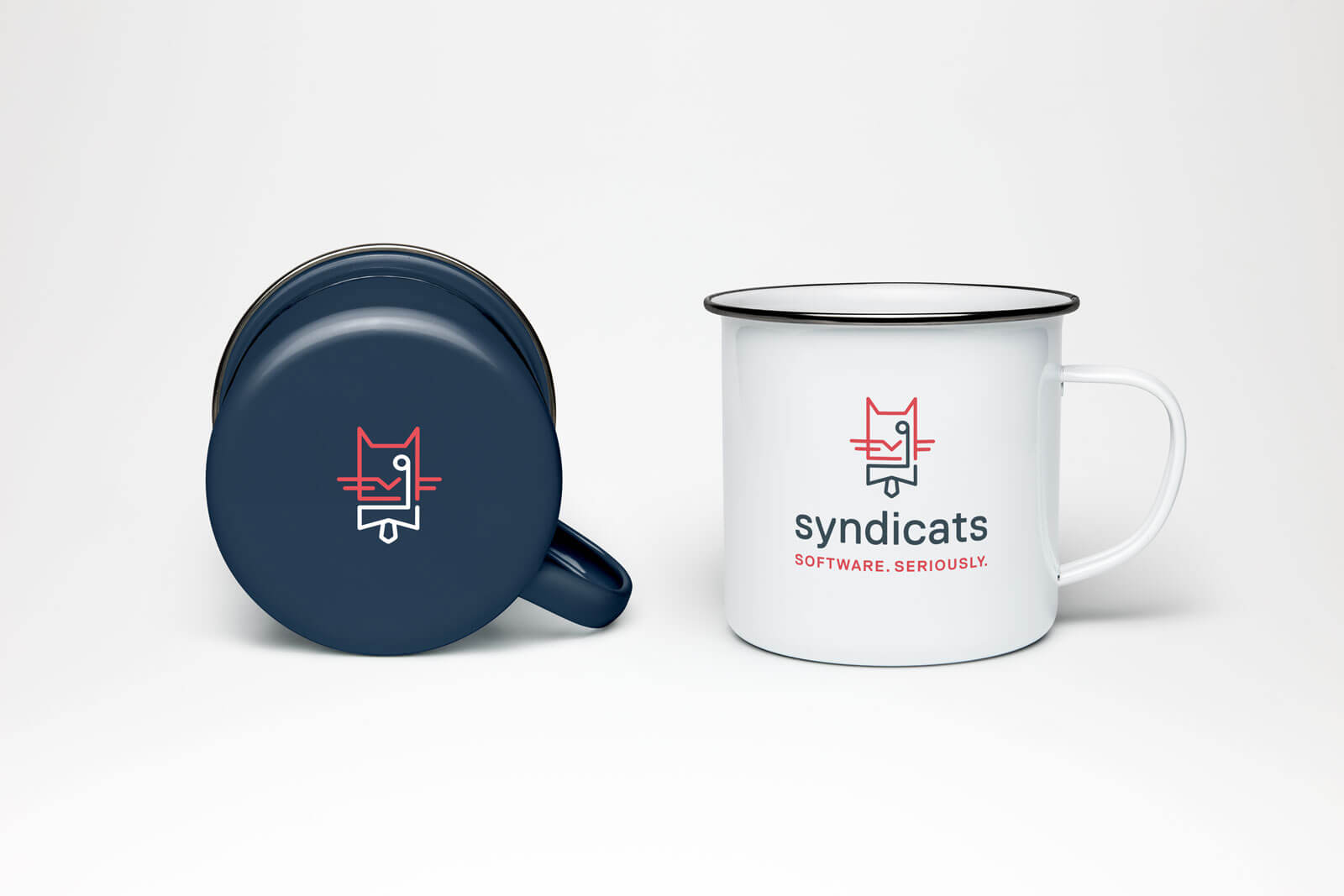 Syndicats Branding Cups Emaille