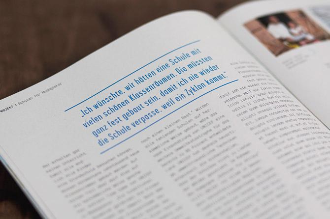 Unicef Spendermagazin Redesign Report Detailshot