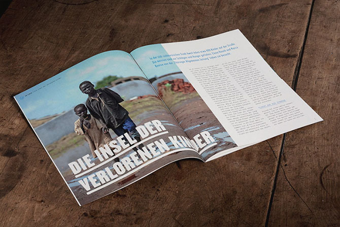 Unicef Spendermagazin Redesign Report Artikel